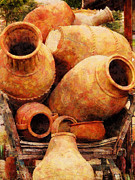 Amphorae Posters - Amphorae on a Cart Poster by Sandy MacGowan