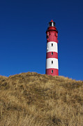 Lighthouse Metal Prints - Amrum Lighthouse Metal Print by Angela Doelling AD DESIGN Photo and PhotoArt