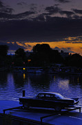 Dawn-dusk Framed Prints - Amstel River Sunset Framed Print by Aaron S Bedell