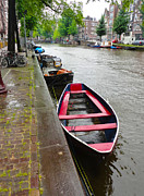 Amsterdam Boat - 02 Print by Gregory Dyer
