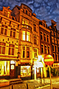 Amsterdam By Night - 01 Print by Gregory Dyer