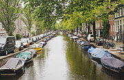 Tilt Shift Prints - Amsterdam Canal Print by Ivy Ho