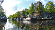 Amsterdam Canal View - 03 Print by Gregory Dyer
