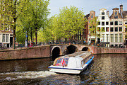 Linked Metal Prints - Amsterdam in Spring Metal Print by Artur Bogacki