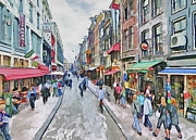 Amsterdam Digital Art Metal Prints - Amsterdam Streets 5 Metal Print by Yury Malkov