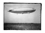 Aviation Framed Prints - Amundsen Air Ship I-SAAN Blimp Framed Print by MMG Archives