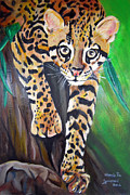 Relax Paintings - Amur Leopard by Maria Pia Guarneri