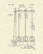 Climbing Drawings Posters - Amusement Device 1938 Patent Art Poster by Prior Art Design