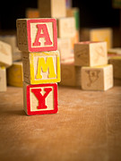 Names Posters - AMY - Alphabet Blocks Poster by Edward Fielding