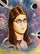Bang Paintings - Amy Farrah Fowler by Amber Stanford