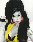 Famous People Painting Prints - Amy III Print by Christian Chapman Art