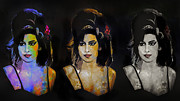 Music Digital Art Originals - Amy Jade Winehouse by Andrzej  Szczerski