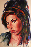 Icons Prints Painting Prints - Amy Print by Tachi Pintor