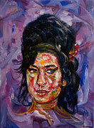 Edward Ofosu Framed Prints - Amy Winehouse Framed Print by Edward Ofosu