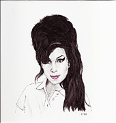 Amy Winehouse Print by Martin Howard