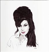 Amy Winehouse Print by Martin Howard