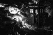 Dr. Who Photo Framed Prints - Amys Choice Bw Framed Print by Todd and candice Dailey