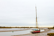 Wooden Ship Prints - an abandoned old sailboat at Maldon in Essex Print by Fizzy Image