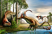 The Pain Posters - An Acrocanthosaurus Observes Poster by Mohamad Haghani