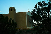 Adobe Buildings Prints - An Adobe Church In New Mexico Print by Jeff  Swan