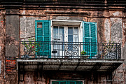 Christopher Holmes Metal Prints - An Aged Balcony Metal Print by Christopher Holmes