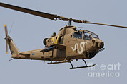 Attack Helicopters Framed Prints - An Ah-1s Tzefa Attack Helicopter Framed Print by Ofer Zidon