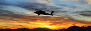 3rd Division Metal Prints - An AH-64 Apache Metal Print by Paul Fearn