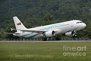 Oman Prints - An Airbus A320 Of The Royal Air Force Print by Remo Guidi