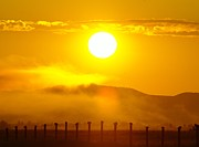 Alberta Foothills Landscape Prints - An Alberta Sunrise Print by Jeff  Swan