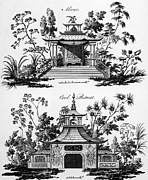 Ornamental Drawings - An Alcove and a Cool Retreat by Paul Decker