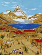 Canmore Artist Posters - An Alpine Autumn Poster by Virginia Ann Hemingson