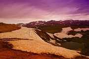 Sky Line Art - An Alpine Lake Near The Top Of Beartooth Pass  by Jeff  Swan