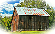 Basketball Digital Art Metal Prints - An American Barn 2 oil Metal Print by Steve Harrington