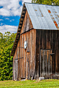 Wooden Structure Framed Prints - An American Barn Framed Print by Steve Harrington