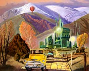 Skyscrapers. Painting Posters - An American Parody in Oz Poster by Art West