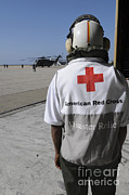 Featured Art - An American Red Cross Volunteer Waits by Stocktrek Images