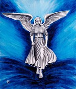 Guardian Angel Print Prints - An Angel By My Side Print by Peta Garnaut
