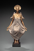 Religious Art Sculpture Originals - An Angel in Repose by Ben Hammond