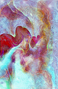 Spiritual Art Prints - An Angels Love Print by Linda Sannuti