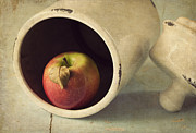 Rustic Metal Prints - An Apple a Day... Metal Print by Amy Weiss