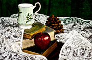 Teacup Photo Acrylic Prints - An Apple a Day Acrylic Print by Camille Lopez