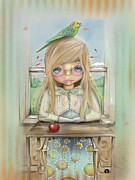 Desk Digital Art Posters - An Apple A Day Poster by Karin Taylor