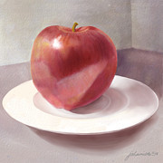 An Apple For Sue Print by Joan A Hamilton