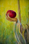 Eve Paintings - An Apple For U by Nik Helbig