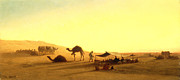 Sundown Paintings - An Arab Encampment  by Charles Theodore Frere