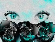 Black Roses Prints - An artists eyes 2 Print by Teri Schuster