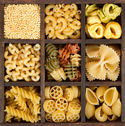 Tie Pin Posters - An Assortment Of Italian Pasta Poster by Jennifer Huls