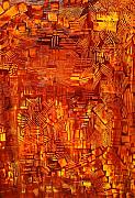 Michael Kulick Paintings - An autumn abstraction by Michael Kulick