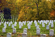 Tombstones Posters - An Autumn Day in Arlington Poster by Paul W Faust -  Impressions of Light