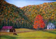 Smokey Mountains Pastels Framed Prints - An Autumn Day Framed Print by Sandy Hemmer